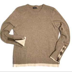 Magaschoni Cashmere Sweater with Zipper Cuffs